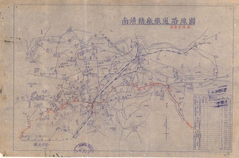 南靖糖廠鐵道路線圖