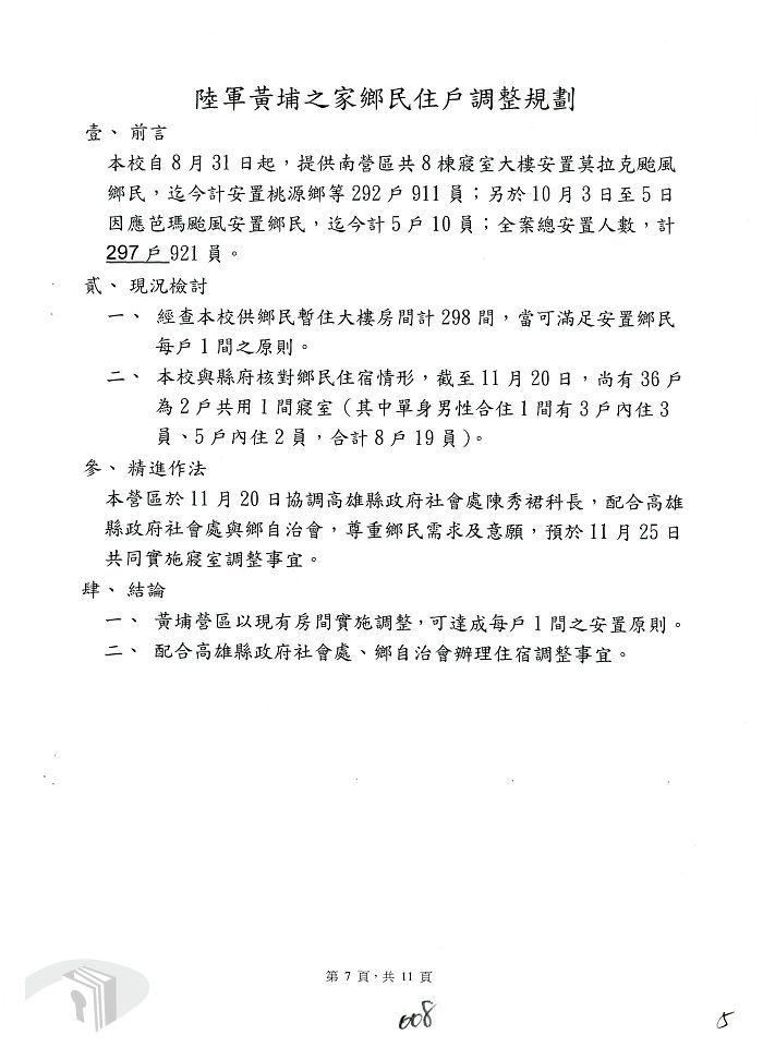陸軍黃埔之家鄉民住戶調整規劃