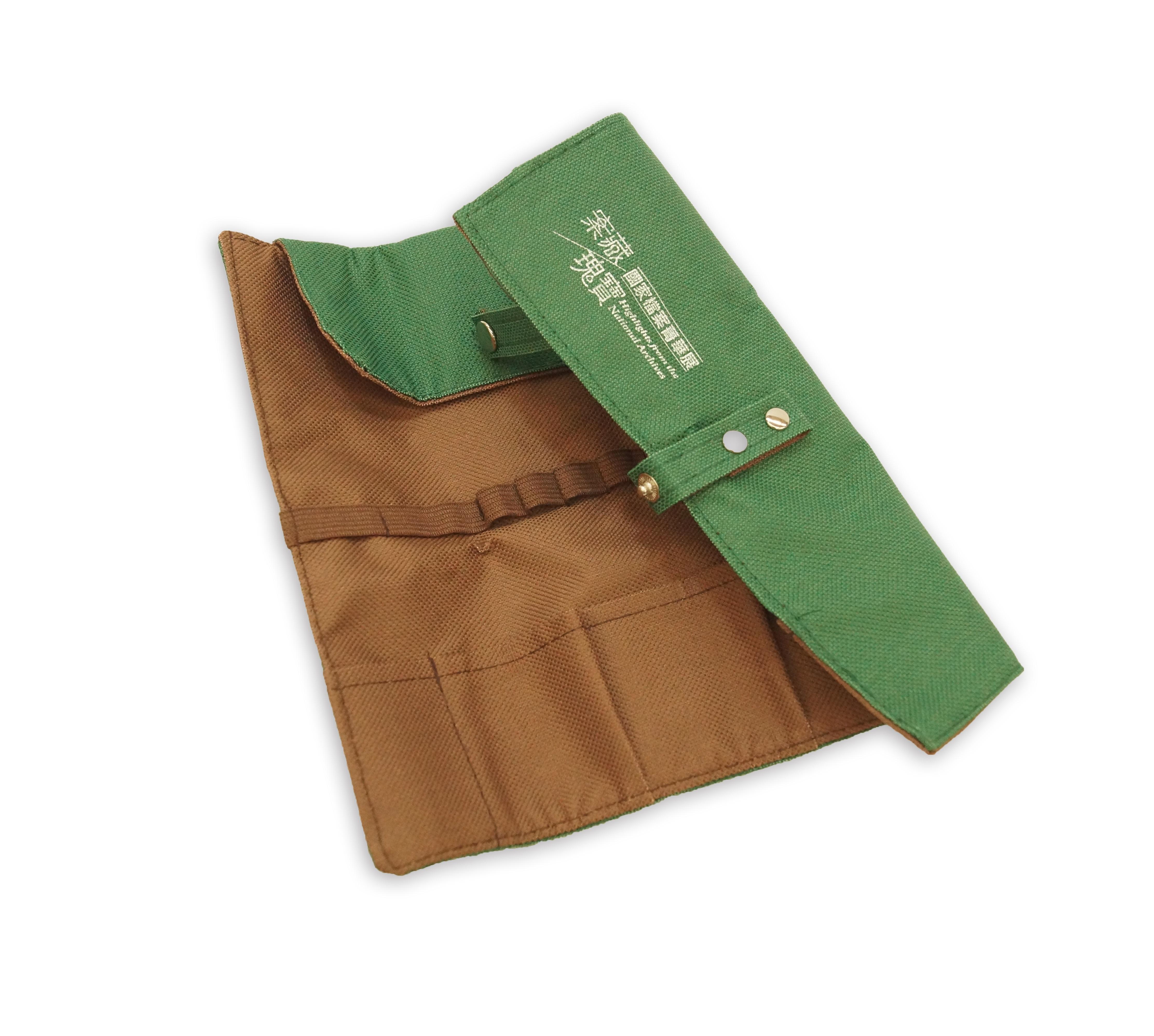 檔案瑰寶綠色筆袋