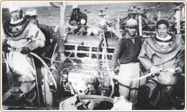 35年後參與澎湖馬公港沉船調查與打撈之潛水人員及其裝備(註1)