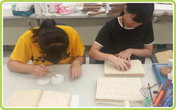 實習學生學習修護國家檔案情形
