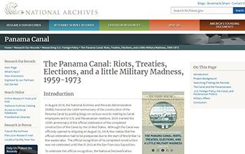 巴拿馬運河外交檔案解密
