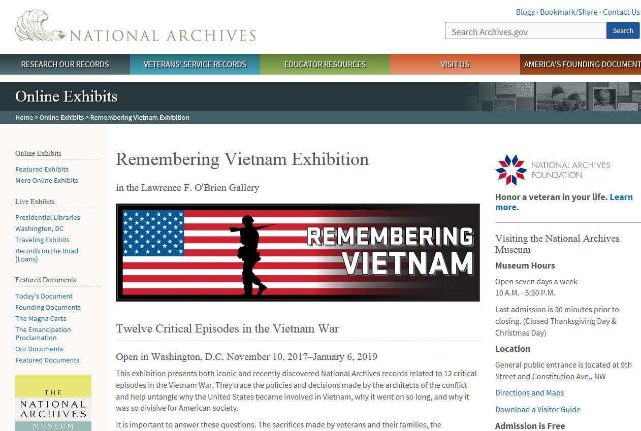 「回憶越南」越戰的12個關鍵事件特展