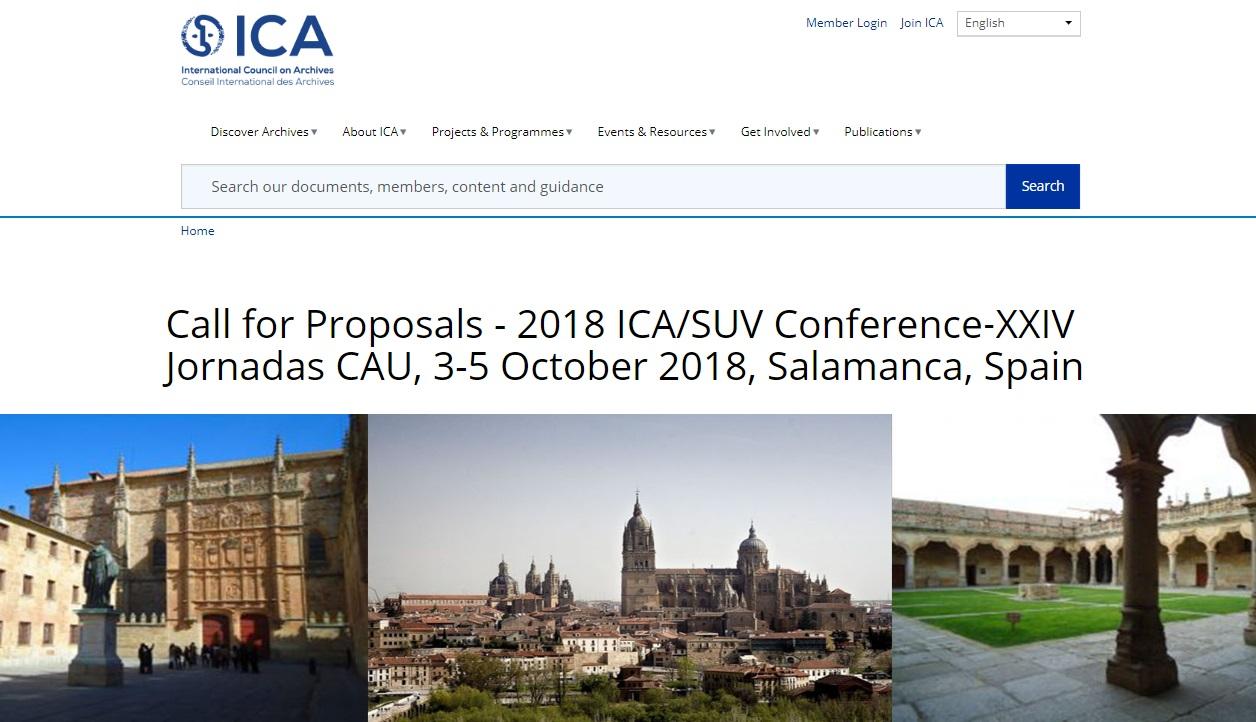 2018年ICA大專院校與研究機構檔案部門年會