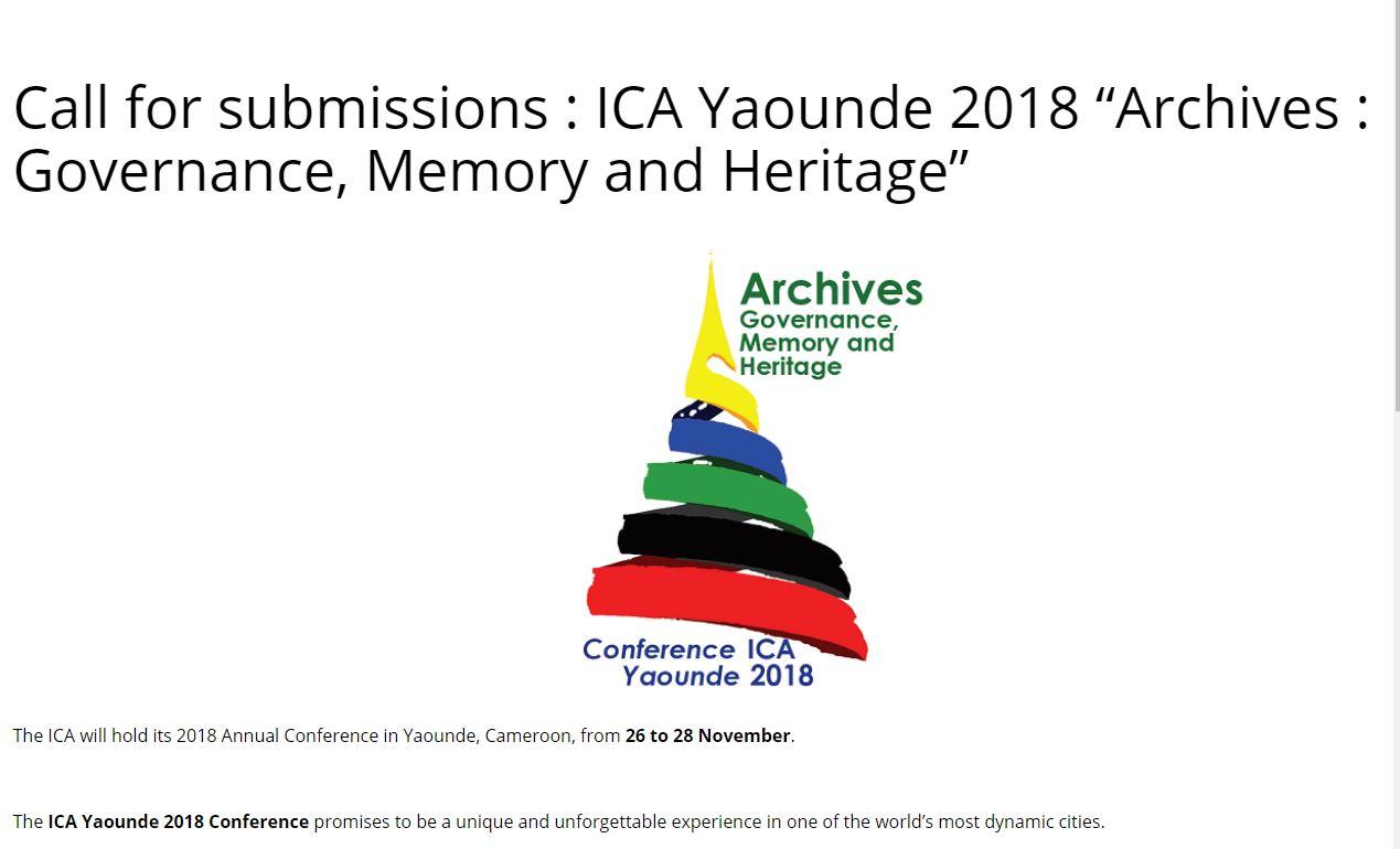 ICA2018年會徵文通知