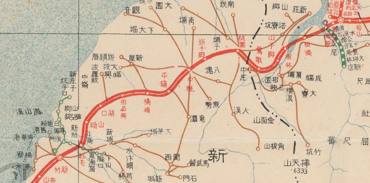 圖3 鐵道改良中的新竹至臺北段