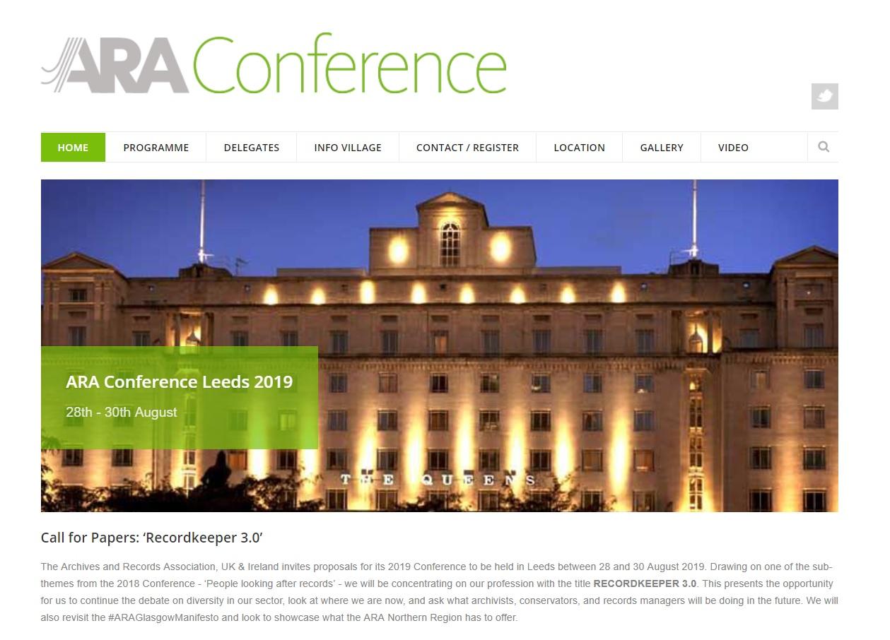 英國檔案與文件學會邀請各界參與2019年會