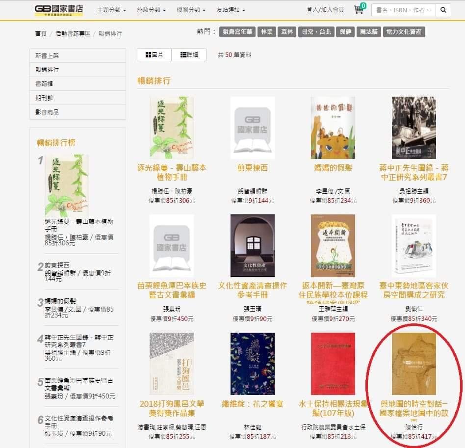 照過來!地圖專書榮登國家書店暢銷排行榜