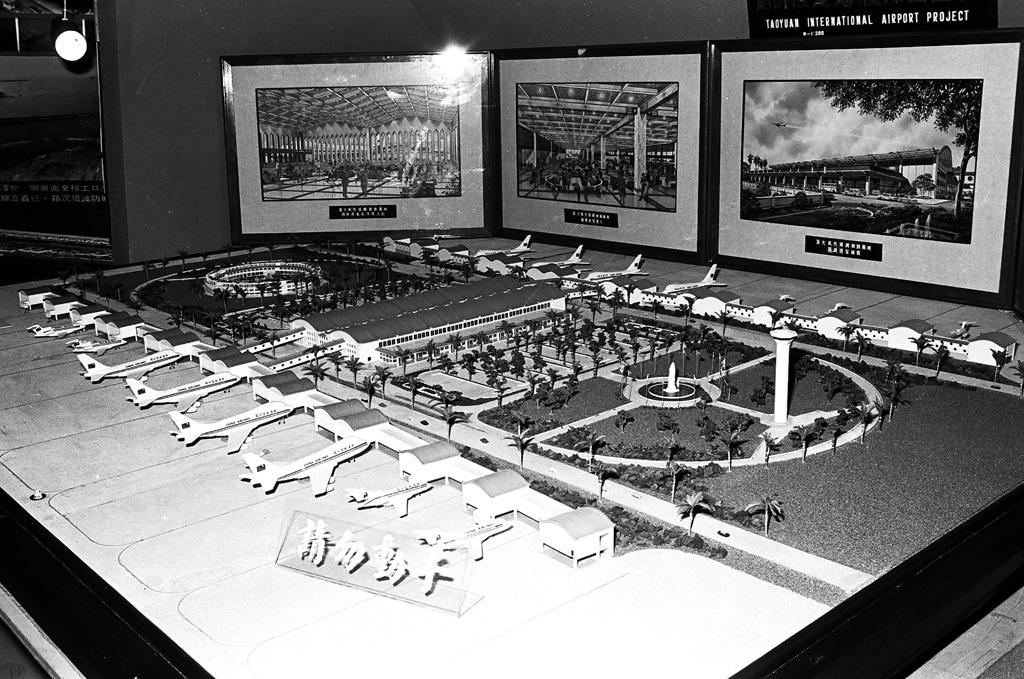 圖1 桃園國際機場模型