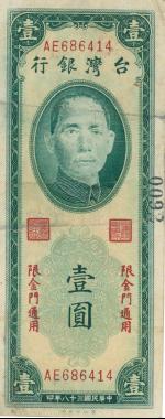 限金門通用的新臺幣一元