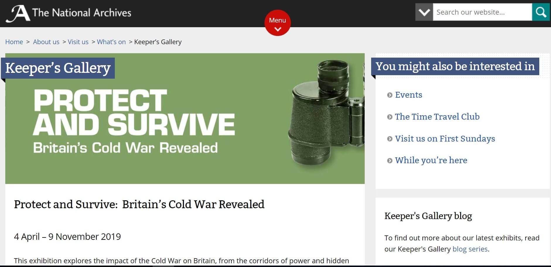 保衛與生存:英國冷戰時期檔案公開