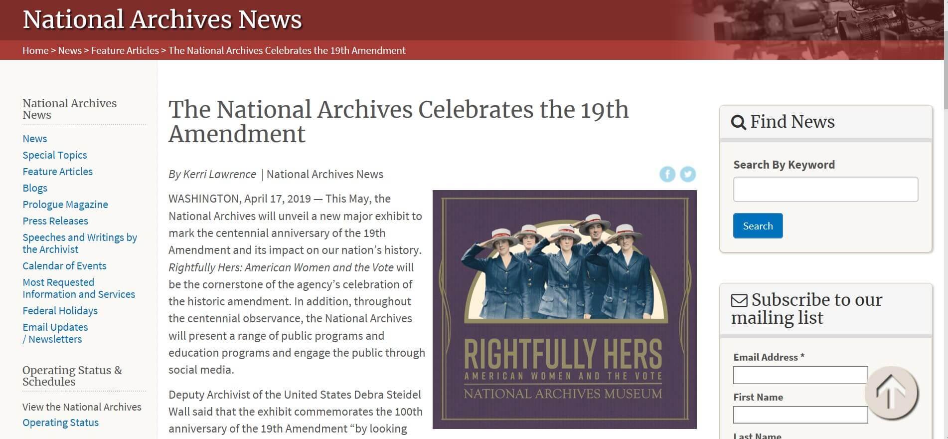 美國憲法第十九修正案一百週年慶