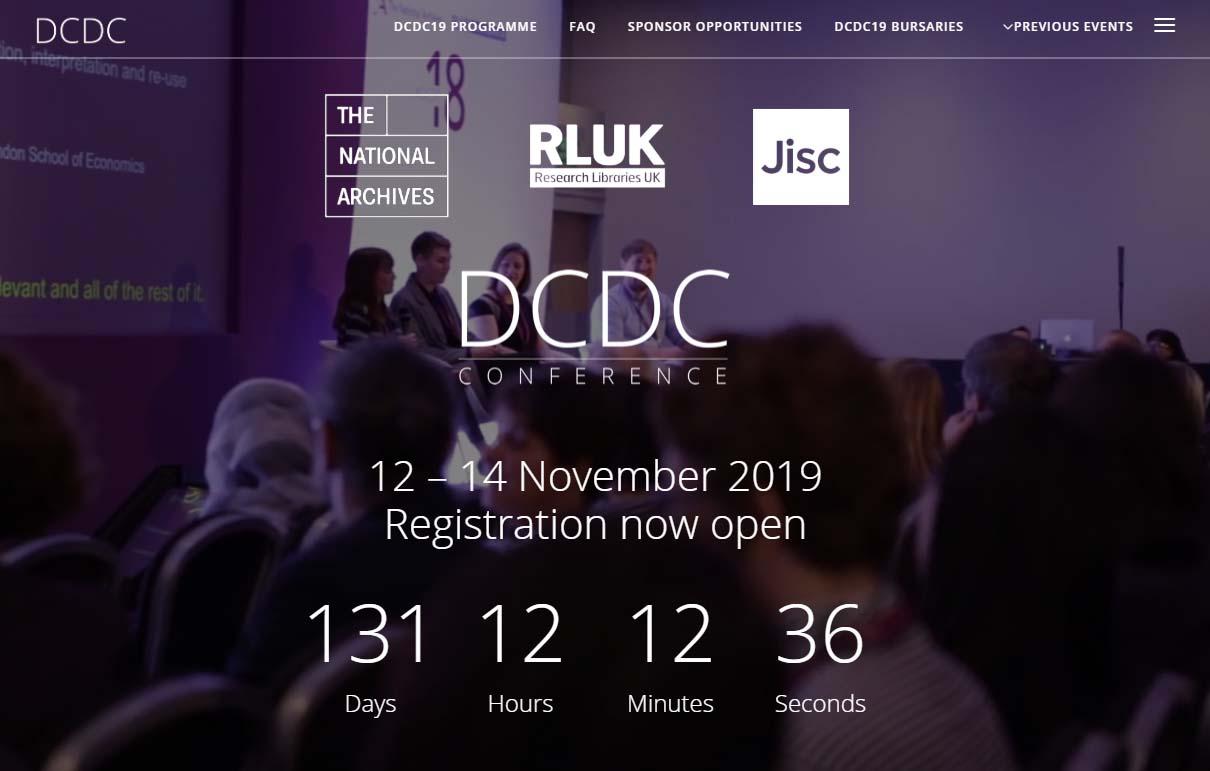 英國國家檔案館宣布JISC成為DCDC會議新夥伴