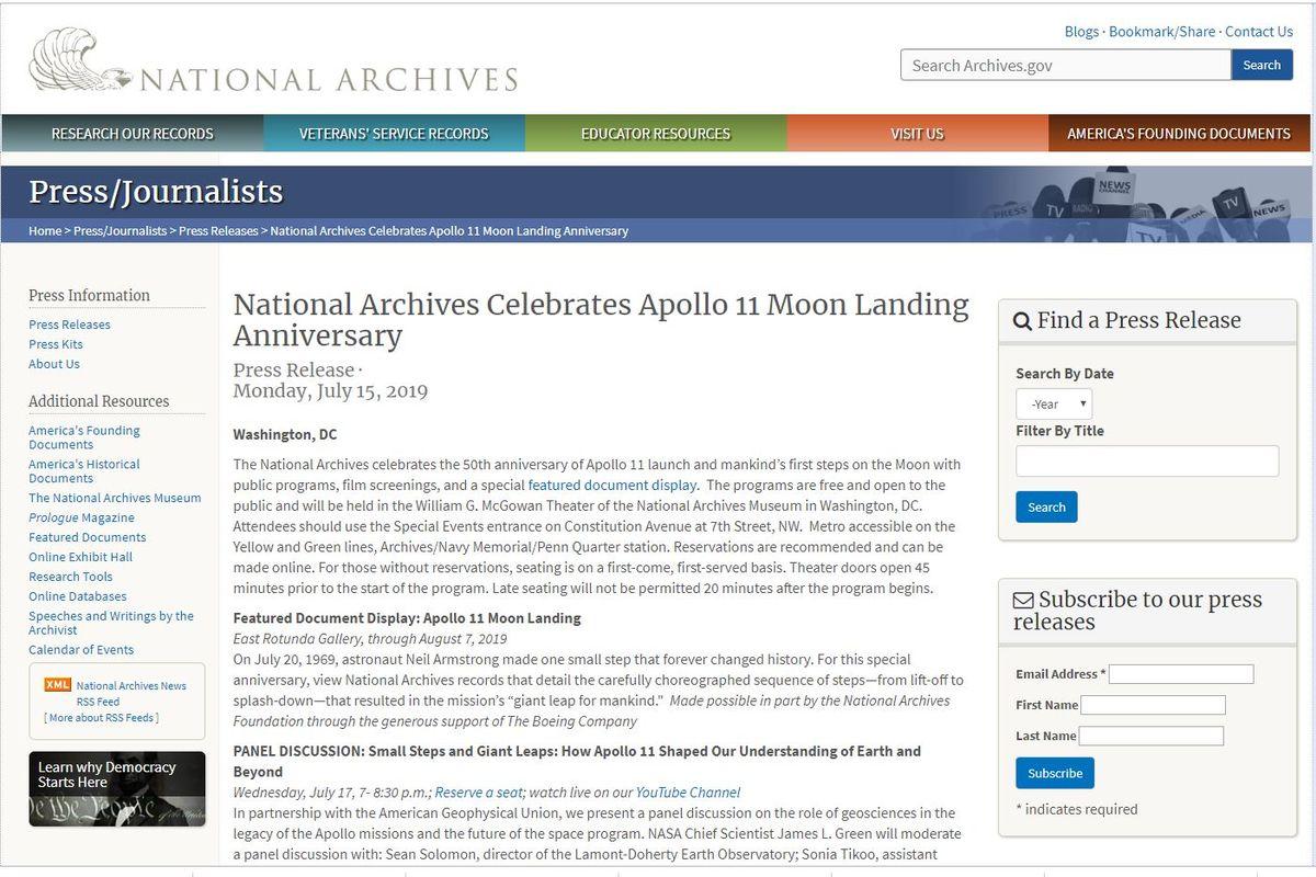 阿波羅11號登月50週年紀念