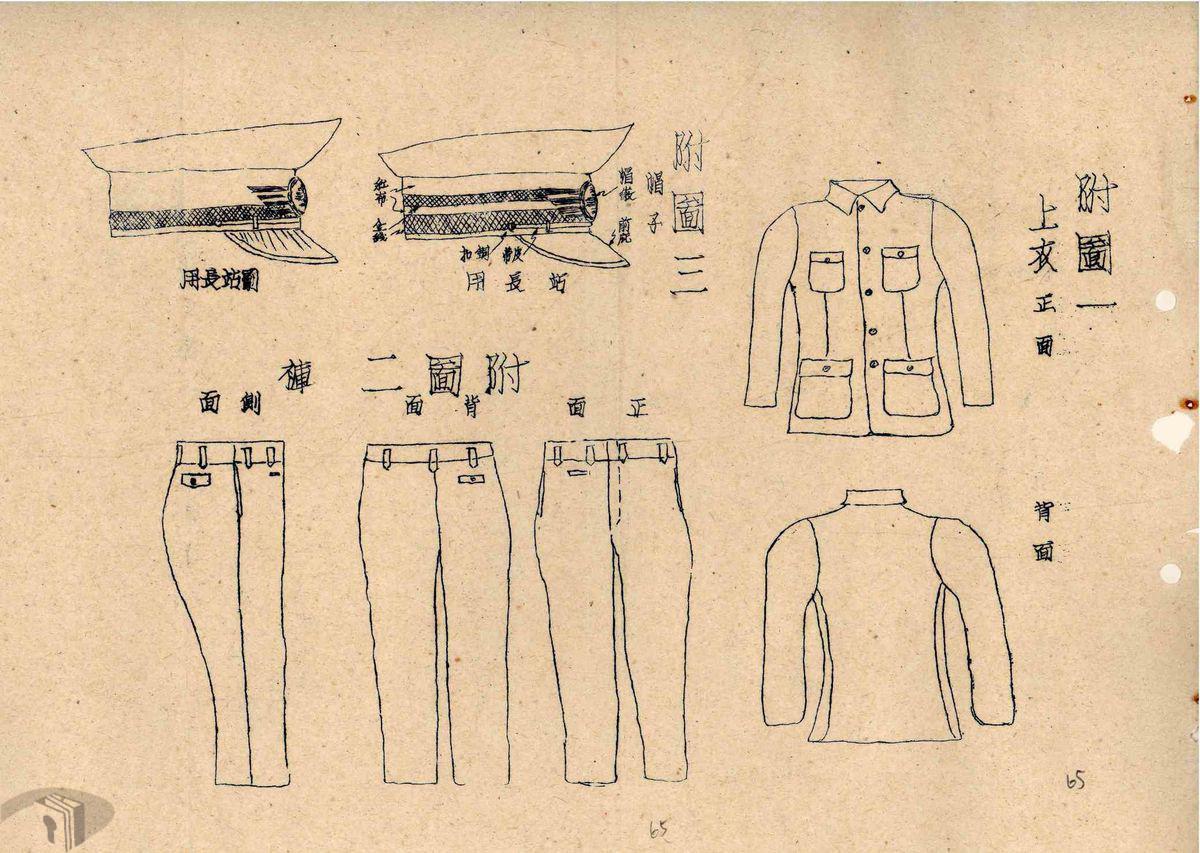 圖2 臺糖員工制服形式設計圖