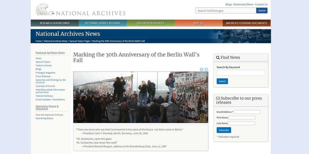紀念柏林圍牆倒塌30週年