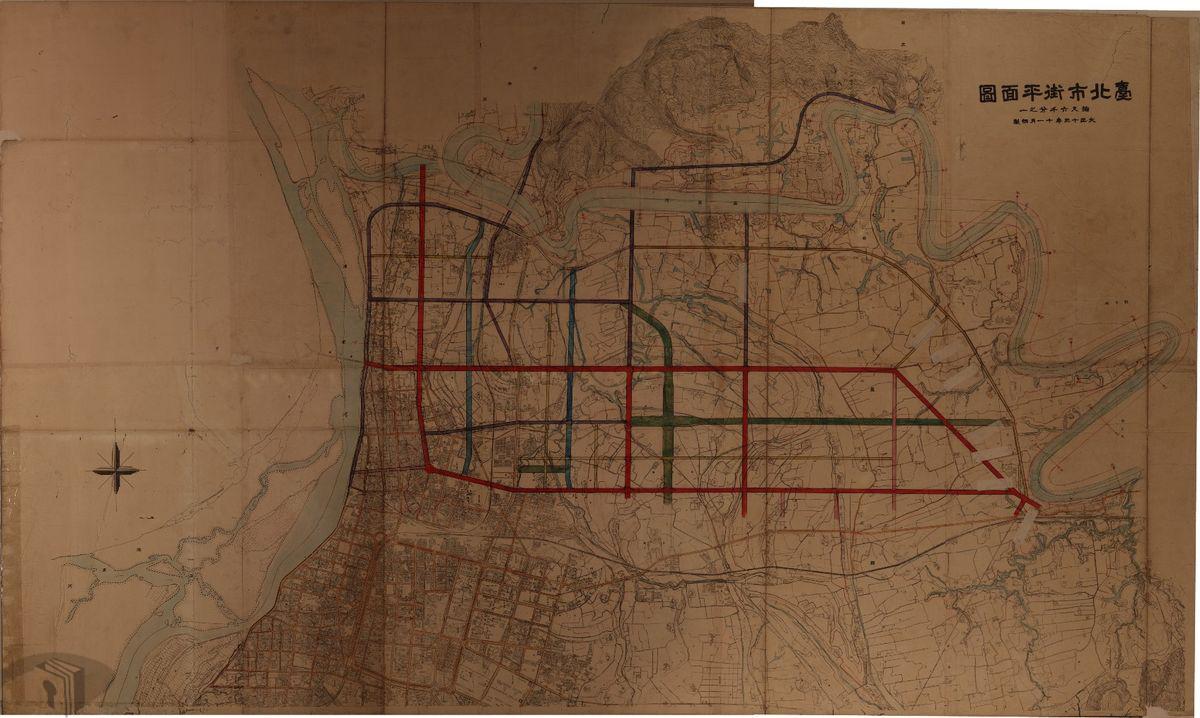圖4 臺北市街平面圖