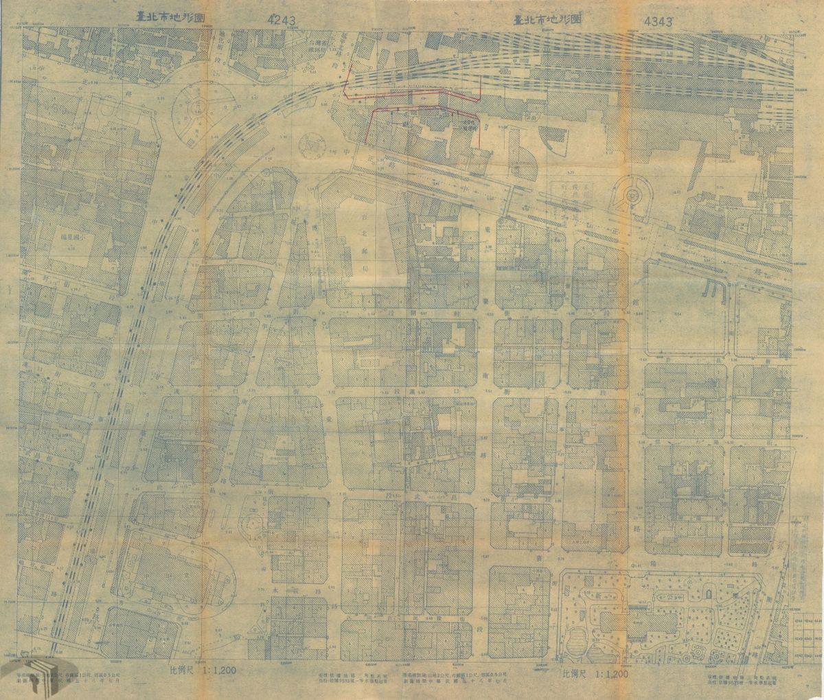 圖12 臺北鐵路路線分布