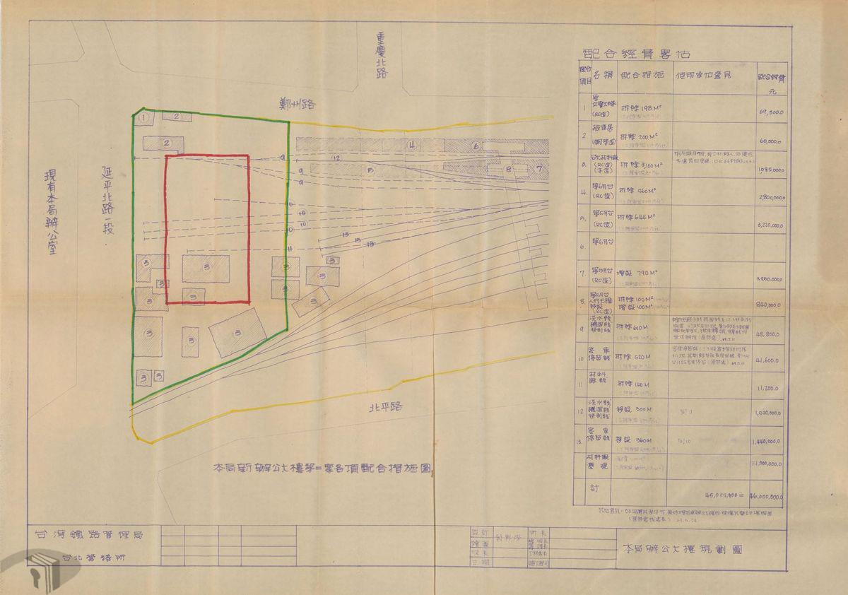圖14 原鐵路局辦公大樓遷建延平西路計畫案
