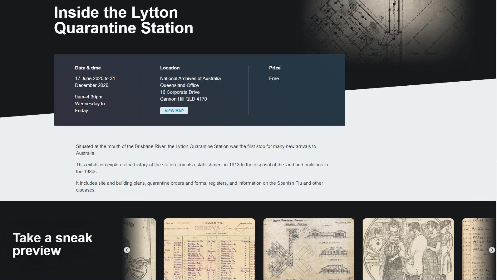 澳洲國家檔案館推出萊頓隔離檢疫站特展