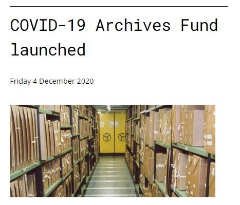 英國國家檔案館推出「Covid-19檔案基金」