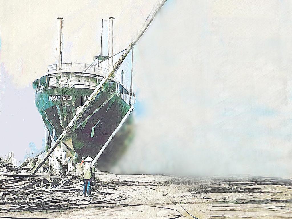 廢鐵變黃金:從沉船打撈到拆船王國桌布檔案