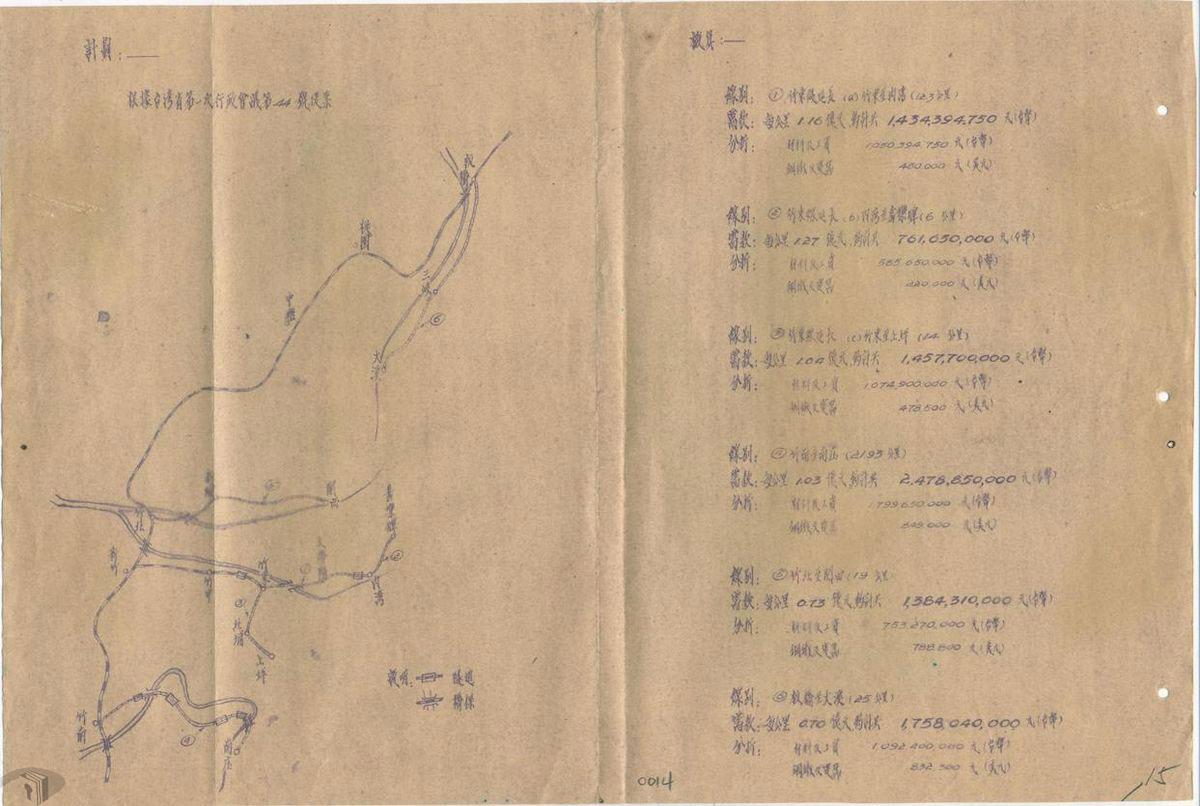 圖7 延長修築竹東支線鐵路方案