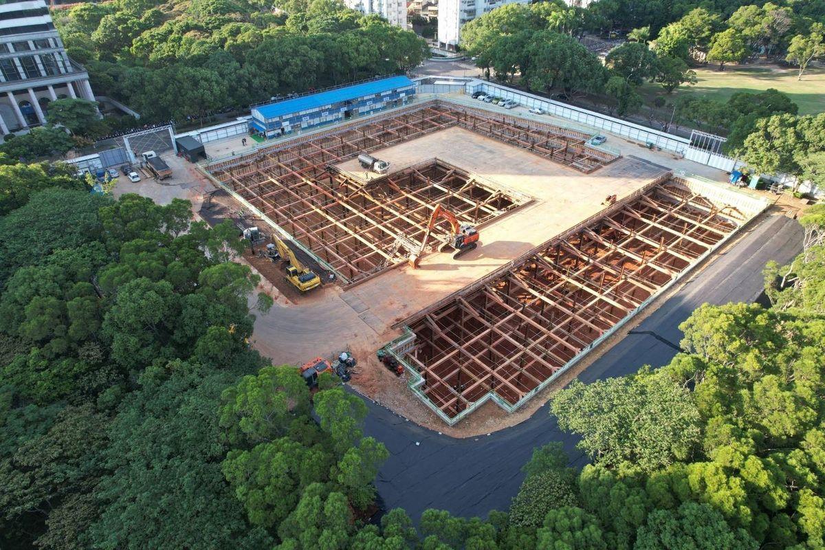 國家檔案館進度—基礎土方開挖完竣